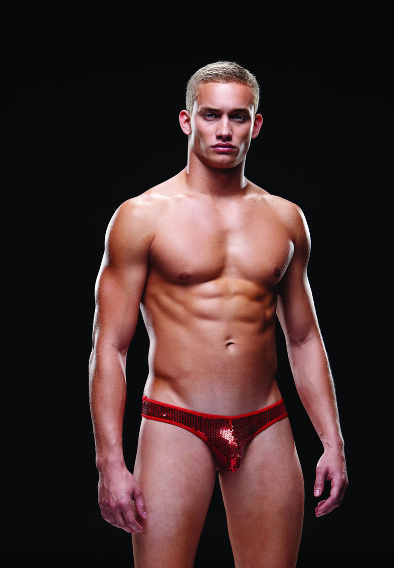 Sequin Low Rise Thong M/l Red (disc)