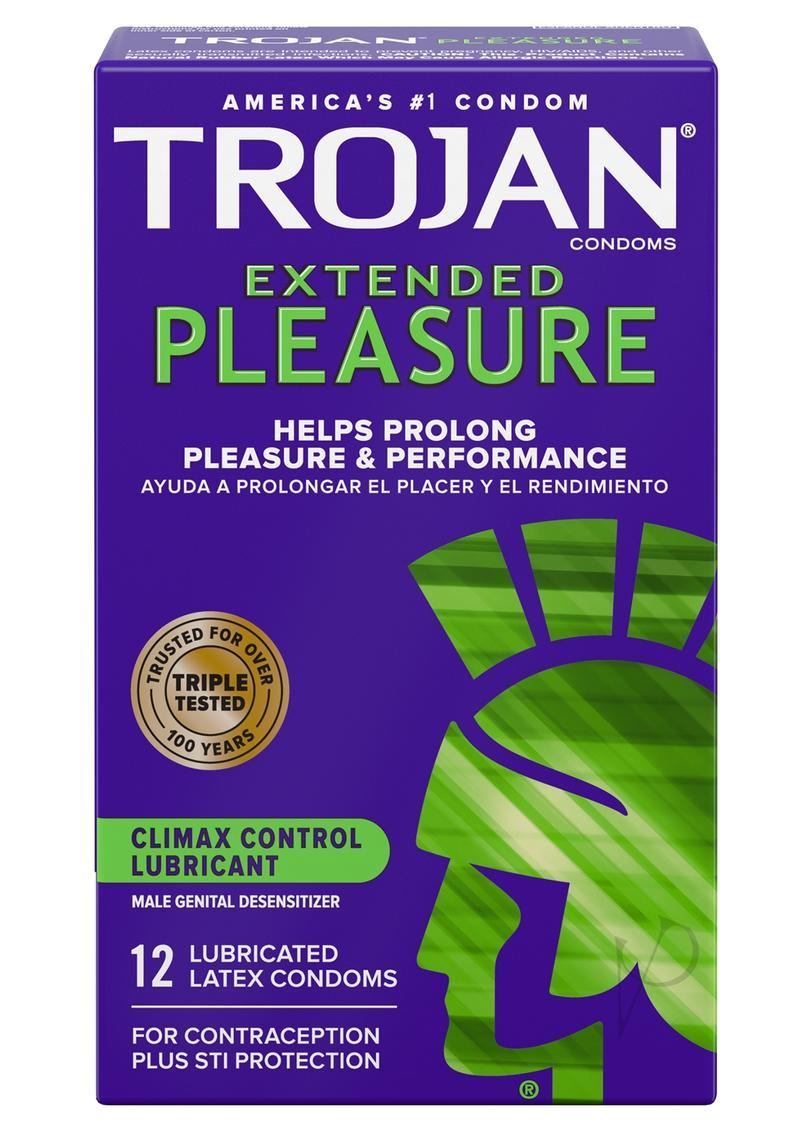 Trojan Condom Pleasures Extended Climax Control Lubricant 12 Pack