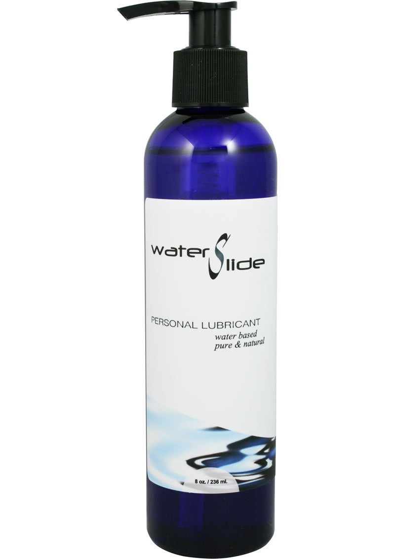 Earthly Body Water Slide Water Based Personal Moisturizer 8oz