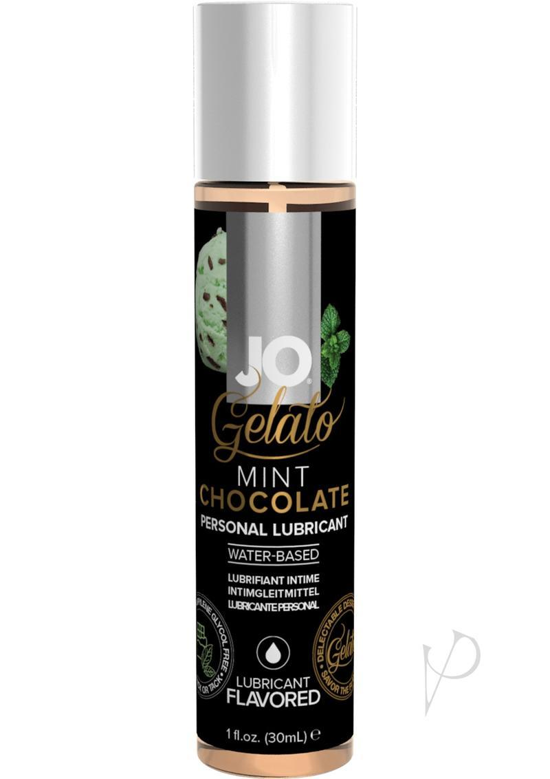 Jo Gelato Water Based Flavored Lubricant Mint Chocolate 1oz