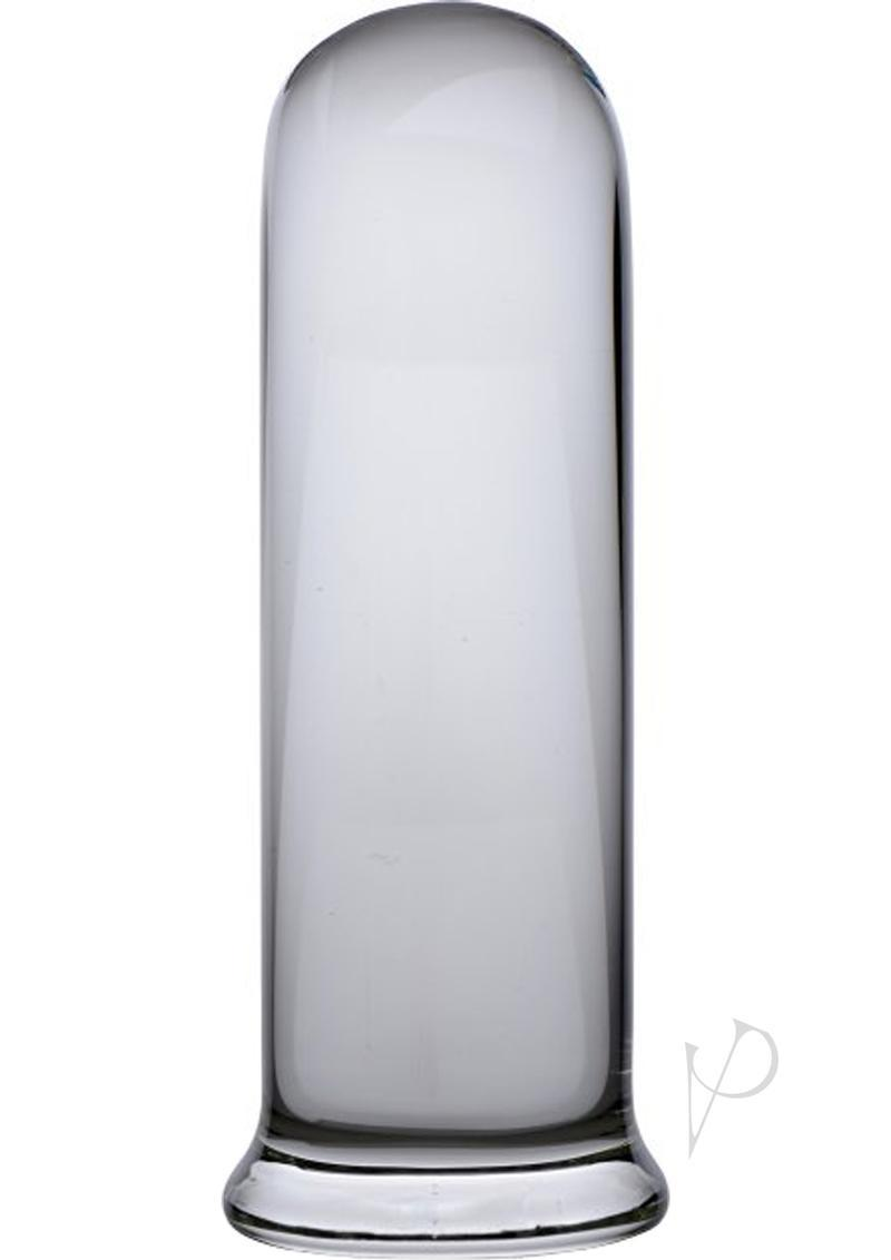 Prisms Pillar Large Cylinder Glass Anal Plug - Clear