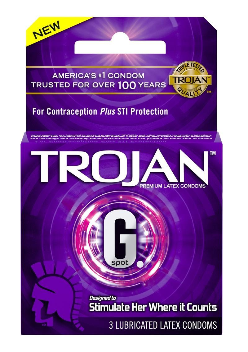 Trojan G-spot Lubricated Textured Condoms 3 Pk