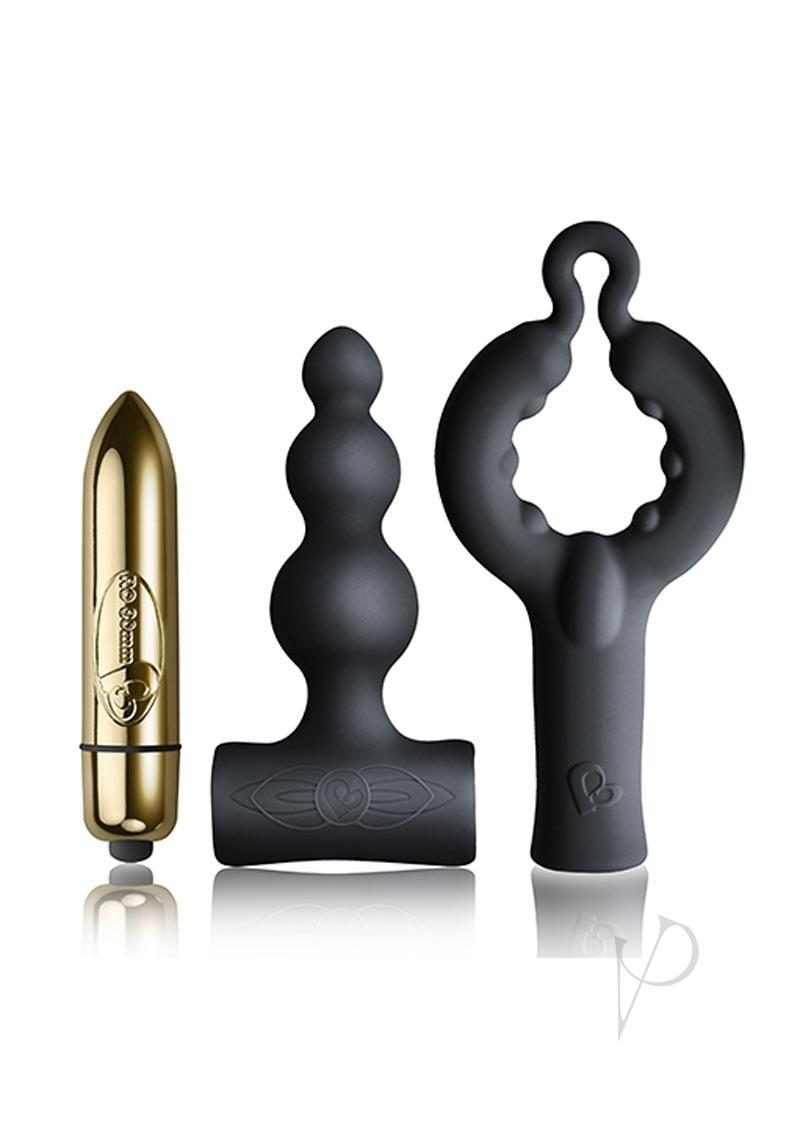 Silhouette Be Mine Set Bullet With Silicone Attachments Vibrator - Black